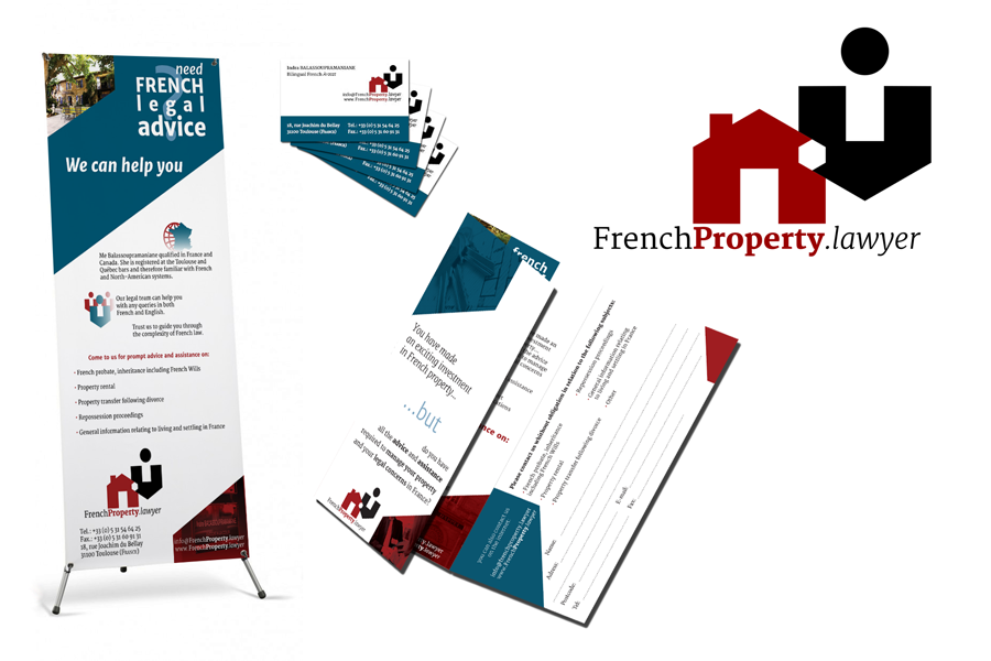 Identité visuelle et applicacation Frenchproperty.lawyer